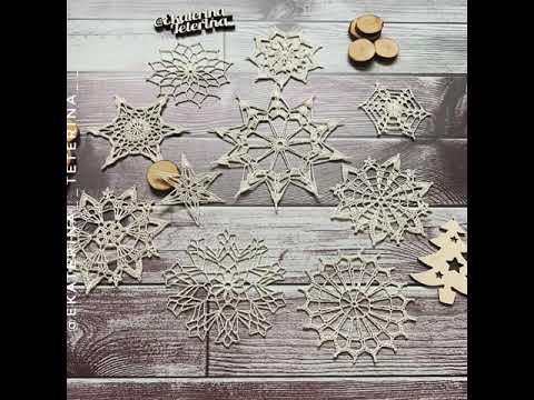 Вязаные крючком снежинки схема
