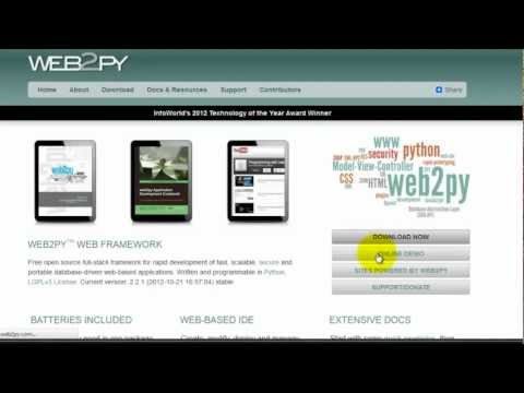 Crash Course in web2py (hello world!)