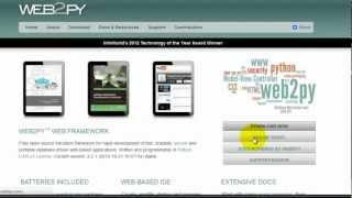 Crash Course in web2py (hello world!)