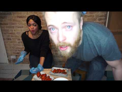 HOT WINGS CHALLENGE ! WITH CAROLINA REAPER  & GHOST PEPPER