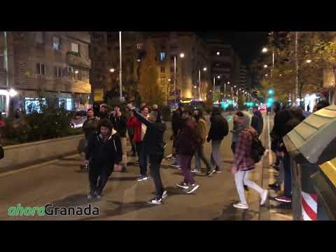Marcha antifascista en Granada