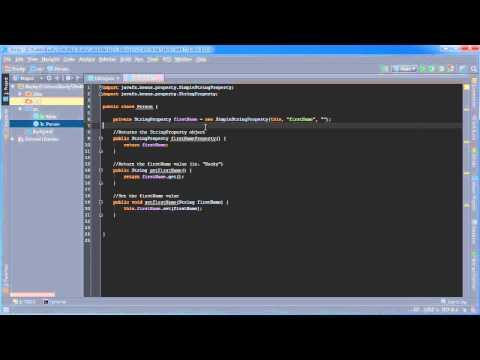 JavaFX Java GUI Tutorial - 28 - Properties