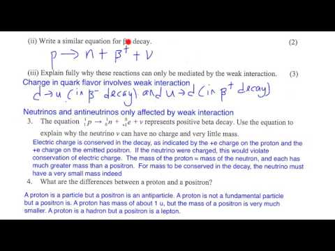 questions on fundamental particles
