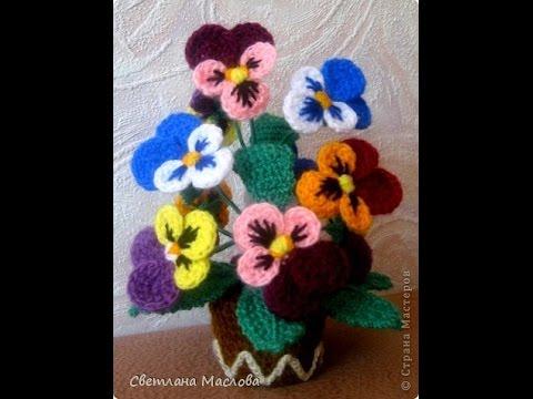 вязаные цветы как настоящие Crocheted Flowers Very Nice Youtube