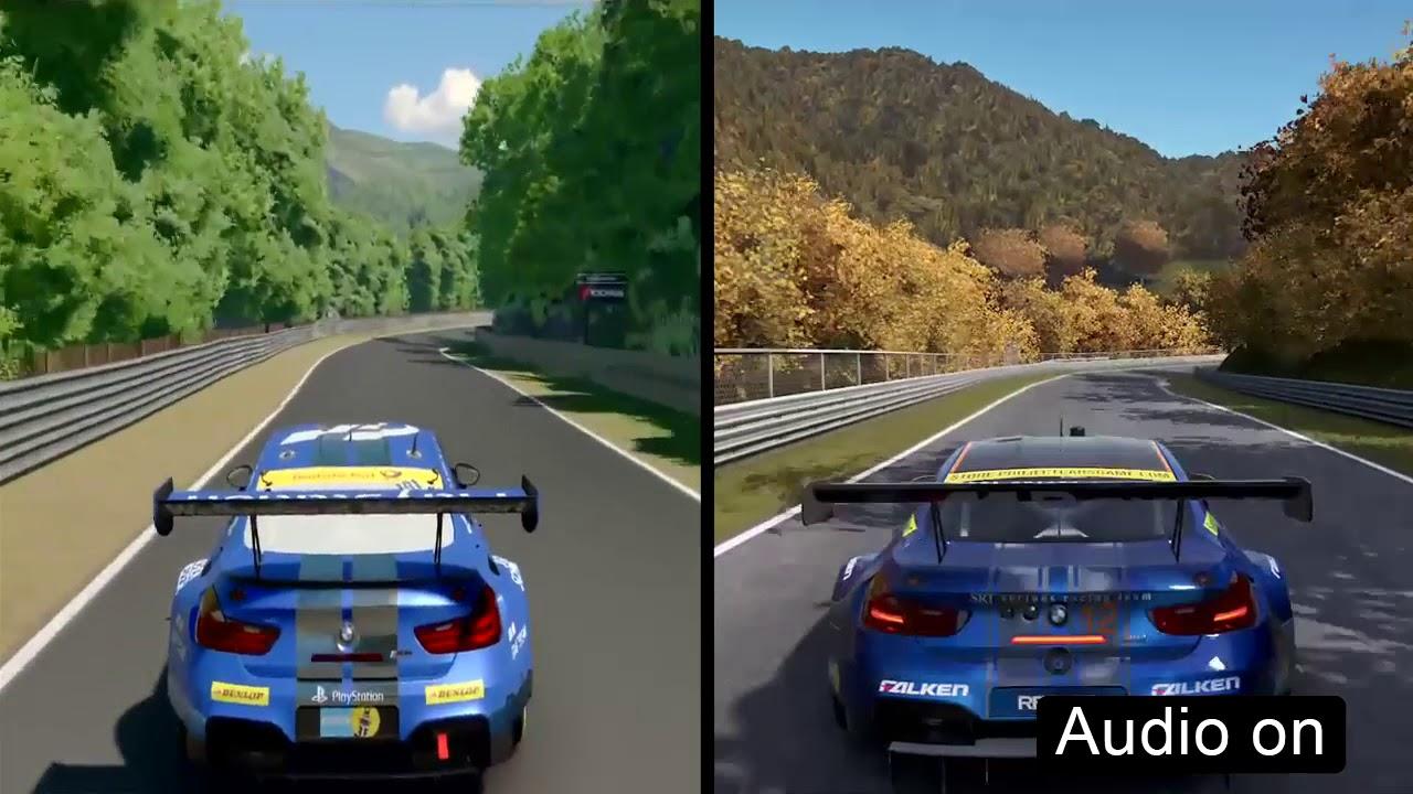 GT Sport VS Project CARS BMW M GT Comparison Nordschleife - Sports cars comparison
