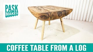 Coffee Table from a Log