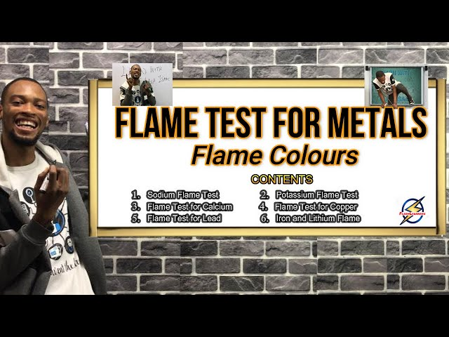 Flame Tests For Metals | Flame Colours