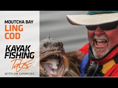 Kayak Fishing Offshore for Lingcod in Moutcha Bay, BC