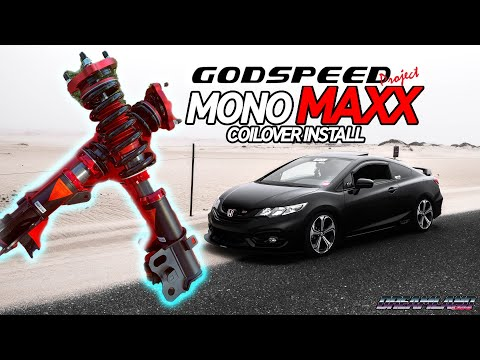 NEW Coilovers for the Si! - GODSPEED MONOMAXX INSTALL