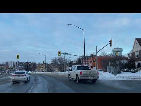 Sudbury, Ontario-Downtown 4K Video