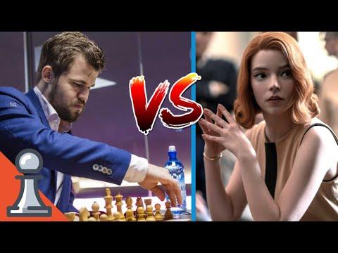 Download Beth Harmon Age 22 vs Magnus Carlsen Age 29