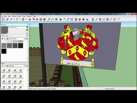 3D Castle - Step 6 - Importing the Family Crest