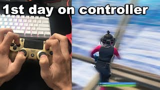 I switched from PC to PS4 on Fortnite for 1 DAY...