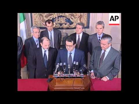 Italy - Prodi Reveals Cabinet Names