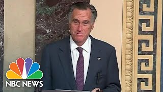 Romney Those Supporting Trump Objection To Election Complicit In Attack On Democracy  NBC News