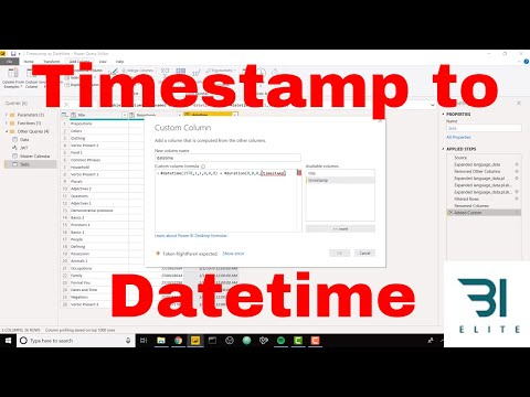 Power BI - Convert Timestamp To Datetime