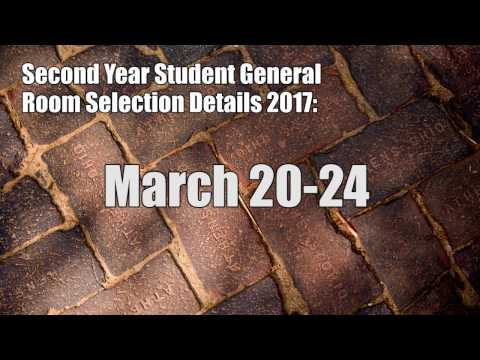 Second Year Student General Room Selection Tutorial 2017