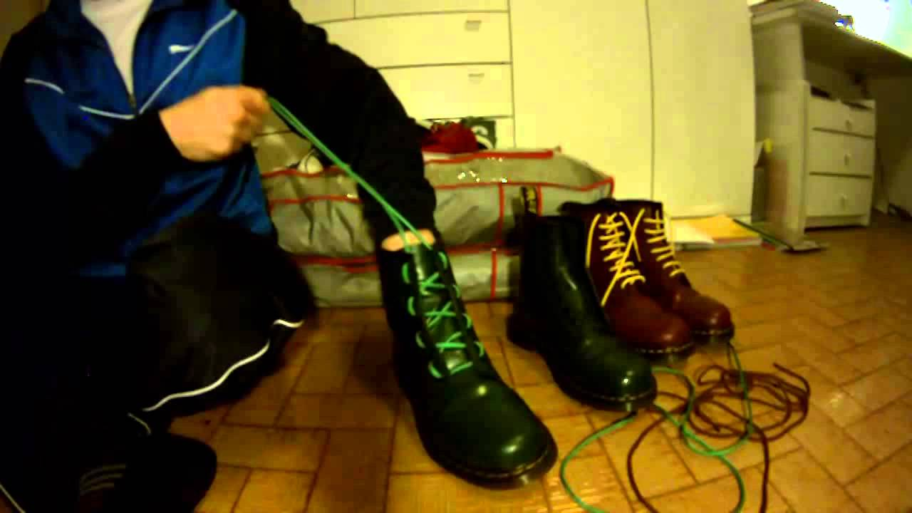 Dr Martens  tre metodi per allacciarli con stringhe incrociate (cross  lace). - YouTube 938ebab5b53