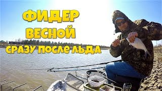 Рыбалка на ФИДЕР ВЕСНОЙ по холодной воде! Открытие фидерного сезона 2019!