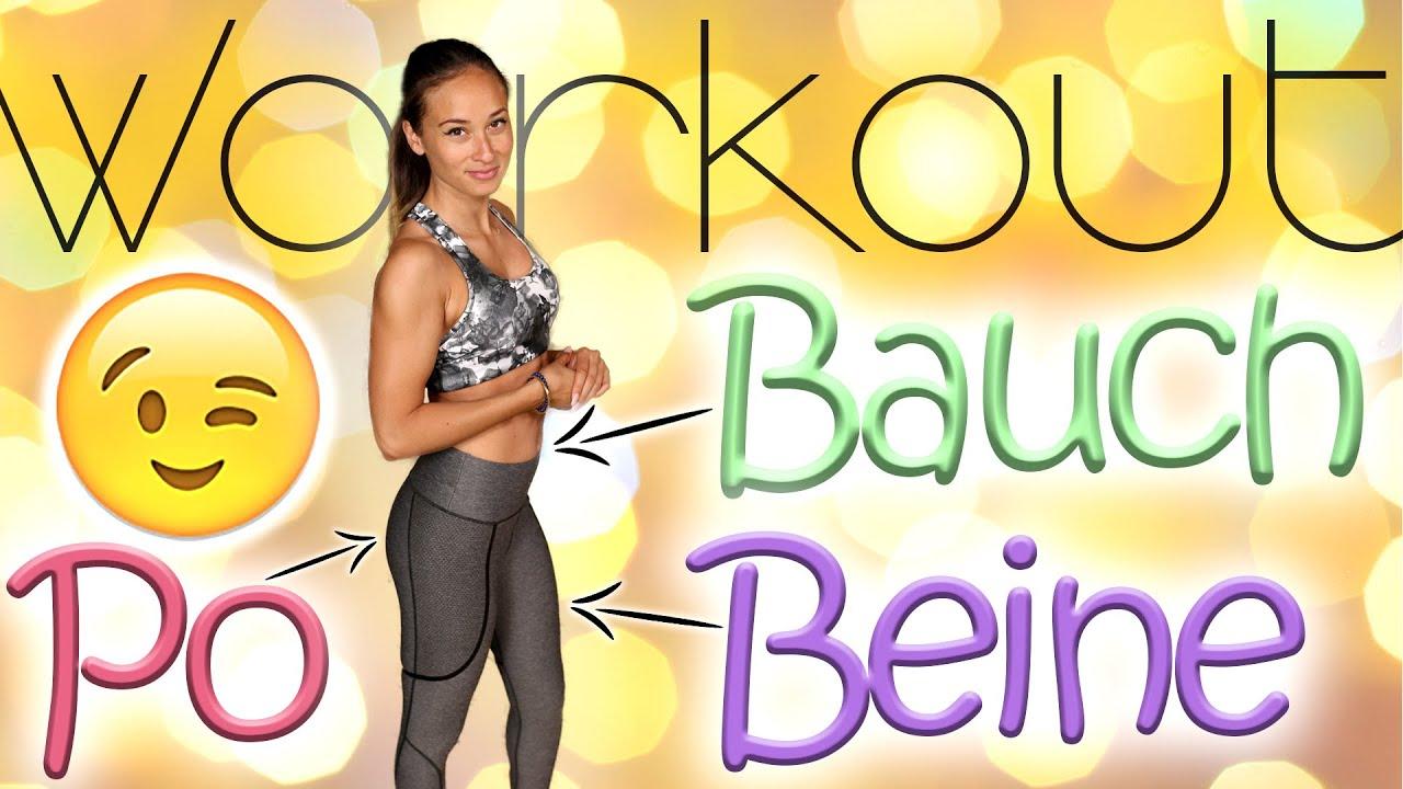 Bauch Beine Po Training Für Zuhause 30 Min Workout Ohne Geräte