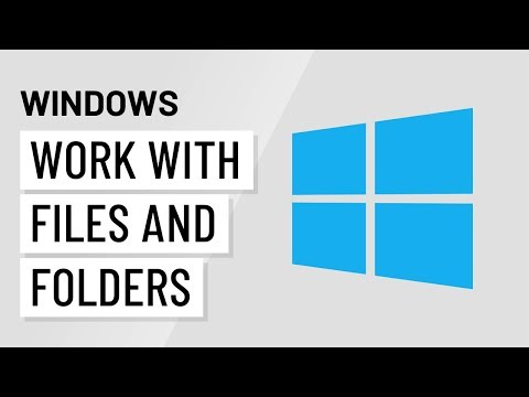 Windows Basics: Working with Files and Folders