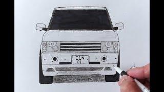 Как нарисовать машину Range Rover