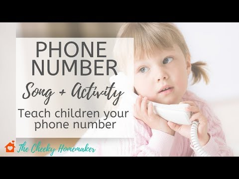 PHONE NUMBER SONG | How To Teach Children Your Phone Number | The