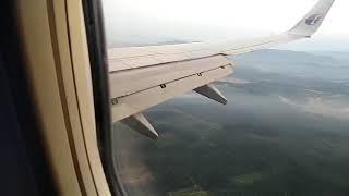MALASIYA AIRLINES COLOMBO to KUALA LAMPUR  MH 178 B 737 800 LANDING KUALA LUMUR AIRPORT MALASIYA