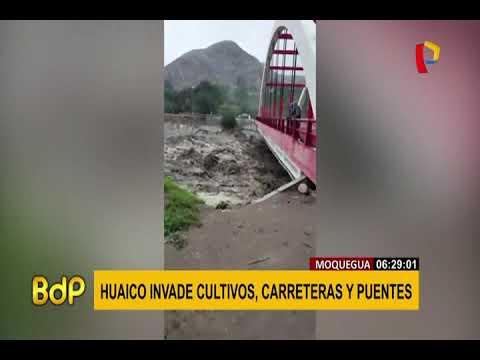 Así amaneció puente Montalvo que une Arequipa con Moquegua y Tacna