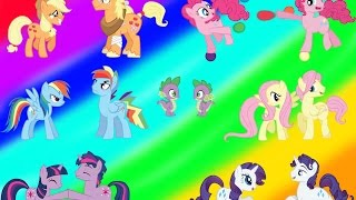 My Little Pony Transforms - Gender Swap Mane 6 Everypony All Colors MLP - Coloring Videos For Kids