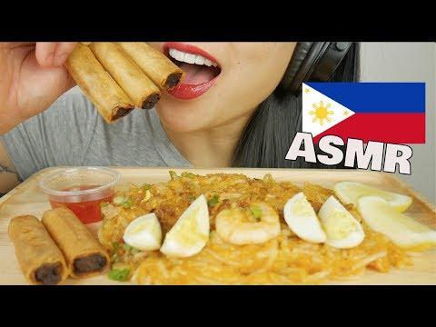 ASMR SEAFOOD PALABOK + LUMPIA *FILIPINO FOOD (EATING SOUNDS) NO TALKING | SAS-ASMR