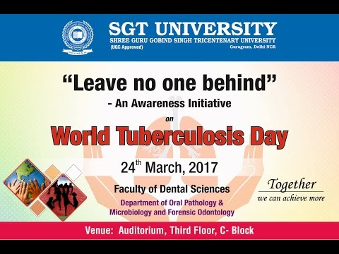 Tuberculosis...Yesterday, today and tomorrow