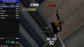 THPS3[5th.gen.]0x A presses[No Ollie] in 42:00
