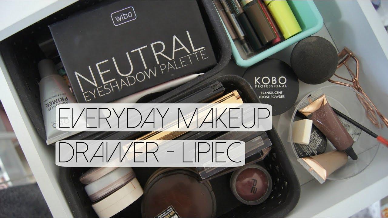 EVERYDAY MAKEUP DRAWER LIPIEC! | CLAU