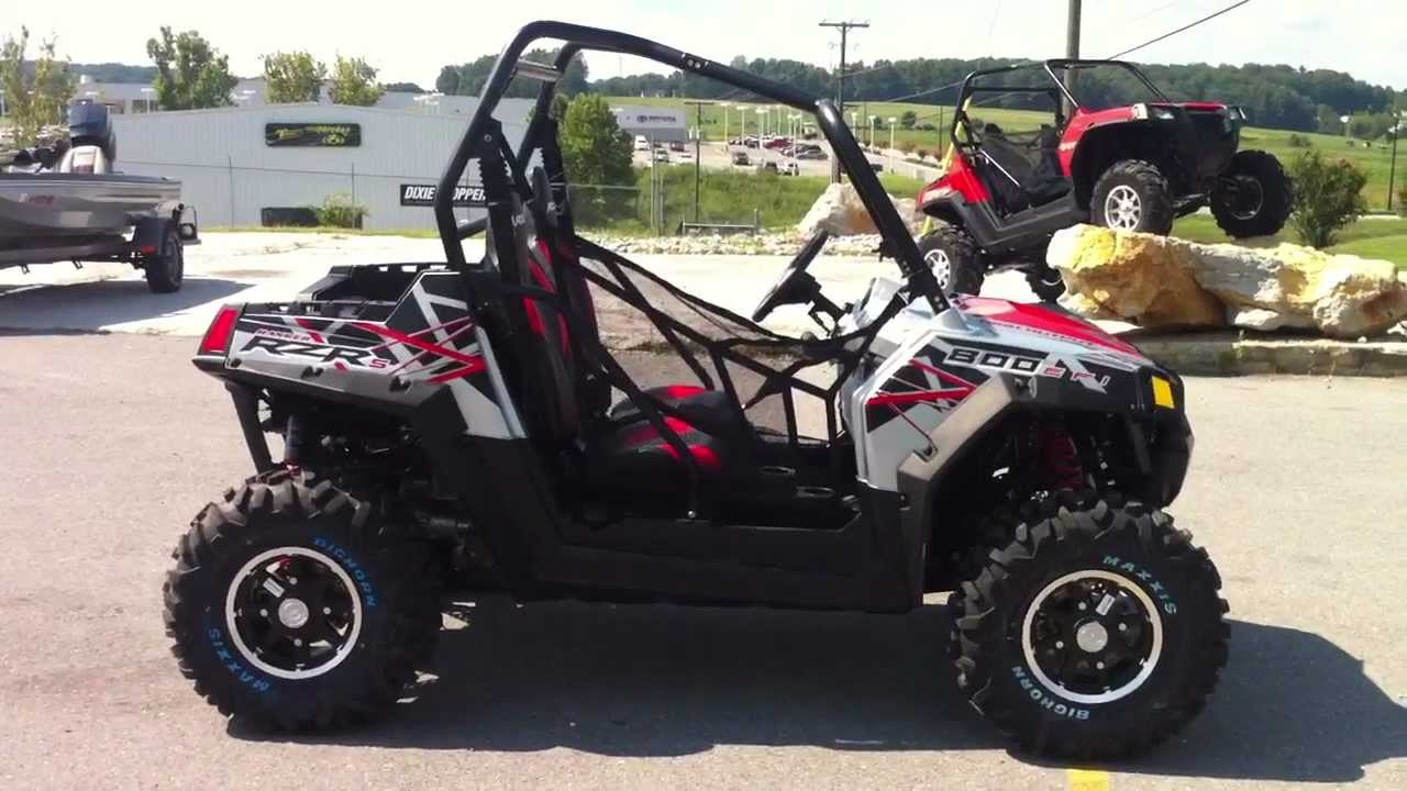 2012 polaris rzr s 800 liquid silver red le youtube. Black Bedroom Furniture Sets. Home Design Ideas