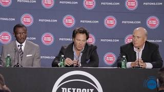Detroit Pistons press conference with new Head Coach Dwane Casey