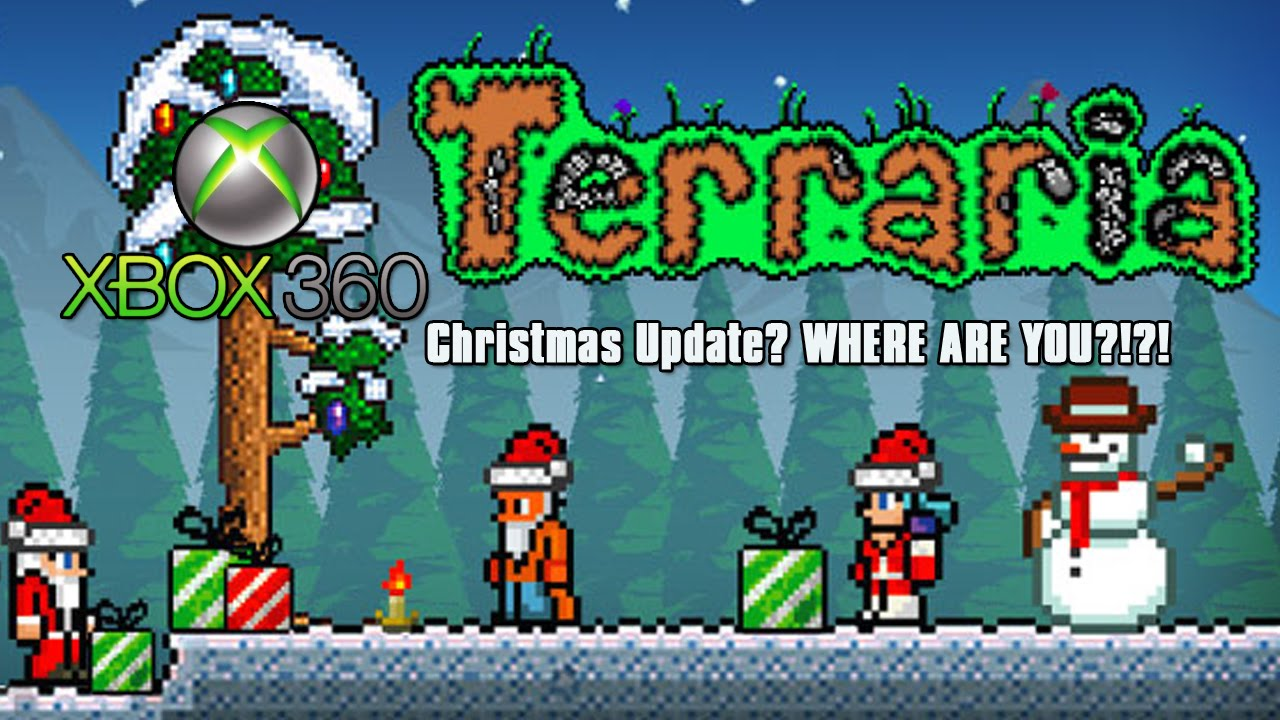 Terraria Christmas.Terraria No Christmas Update Glitch Presents Dropping As Normal Xbox 360