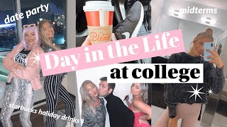 COLLEGE VLOG: starbucks holiday drinks, skincare routine, date party