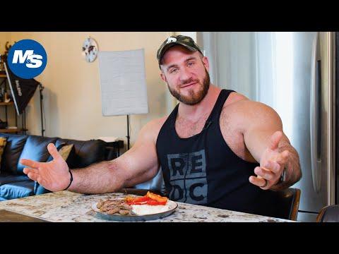 What Pro Bodybuilders Eat For Dinner | Antoine Vaillant's Dinner (Not Chicken!)