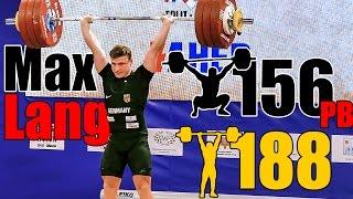 Video Max Lang (77kg) 156kg Snatch 188kg Clean and Jerk - European Championship 2017 - including warm ups download MP3, 3GP, MP4, WEBM, AVI, FLV September 2017