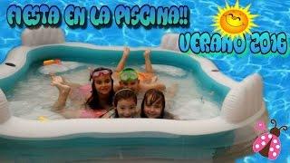 fiesta en la piscina con mis amigos fiesta de globos de agua verano 2016