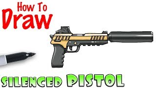 How to Draw the Silenced Pistol | Fortnite