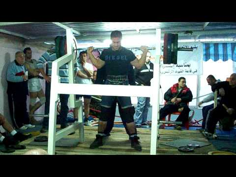 Rami Alfa From Saida Sqwat 200 KG . ( South Lebanon ChampionShip 2010 )
