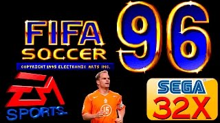 FIFA Soccer 96 gameplay (Sega Mega Drive/Genesis 32X).