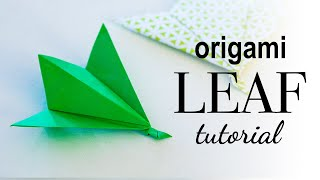 How to Make an Origami Leaf ♥︎ Tutorial ♥︎ DIY ♥︎