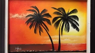 #74. double palm for beginners (acrylic)