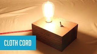 DIY Industrial-Style Lamp with Edison Bulb