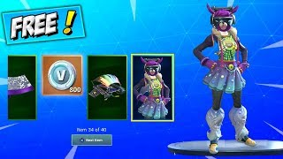 ALL 14 DAYS OF FORTNITE REWARDS PER DAY! (FREE SKIN) How To Get Female DJ Yonder + CHALLENGES GIFTS