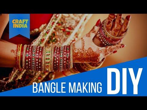 DIY Beed Bangle Making   Craft India   DIY