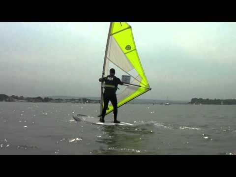 Beginners Windsurfing Lessons - Windsurf Start Position & Sailing Position